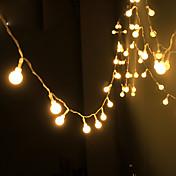 cadena de la energía solar blanca cálida de la lámpara del alambre de cobre 100Led tira llevada 10m impermeable al aire libre de la luz