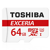 Toshiba 64GB Tarjeta TF tarjeta Micro SD tarjeta de memoria UHS-I U3 Clase 10 EXCERIA