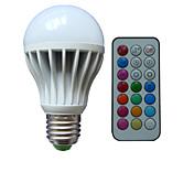 B22 E26/E27 LED-globepærer A80 3 leds Høyeffekts-LED RGB Mulighet for demping Fjernstyrt Dekorativ AC 85-265