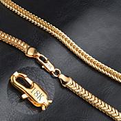 Hombre Mujer Forma Moda Collares de cadena Oro Collares de cadena Boda Fiesta Diario Casual Joyería de disfraz