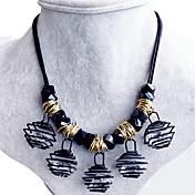 Mujer Collar Obsidiana Forma Cuadrada Forma Geométrica Zirconio Legierung Diseño Único Cosecha Victoriano Joyas Para Boda Fiesta Diario
