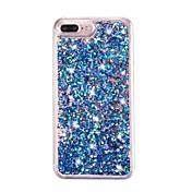 Para Funda iPhone 7 Funda iPhone 7 Plus Funda iPhone 6 Carcasa Funda Líquido Transparente Cubierta Trasera Funda Gradiente de Color Dura