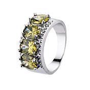 Dame Ring Kubisk Zirkonium Zirkonium Kubisk Zirkonium Kostyme smykker Bryllup Engasjement Daglig Avslappet Sport