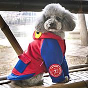 Perros Abrigos Saco y Capucha Ropa para Perro Adorable Moda Casual/Diario Animal Gris Rojo