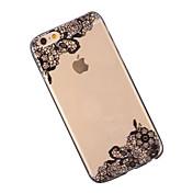 Etui Til Apple iPhone 6 iPhone 6 Plus Gjennomsiktig Mønster Bakdeksel Blonde Print Myk TPU til iPhone 6s Plus iPhone 6s iPhone 6 Plus