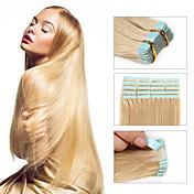 Febay Tape Inngang Hairextensions med menneskehår Rett Ubehandlet hår Brasiliansk hår