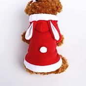 Hund Kostume Hettegensere Hundeklær Dyr Rød Rosa Flannelstoff Bomull Kostume For kjæledyr Herre Dame Søtt Cosplay