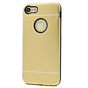 Funda Para Apple Funda iPhone 5 iPhone 6 iPhone 7 Antigolpes Funda Trasera Color sólido Dura Metal para iPhone 7 Plus iPhone 7 iPhone 6s