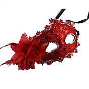 Princesas Cuento de Hadas Máscara Unisex Halloween Carnaval Año Nuevo Festival/Celebración Disfraces de Halloween Rojo Naranja Marrón Oro