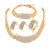Mujer Los sistemas nupciales de la joyería Cristal Plata de ley Legierung Otros Básico Fiesta Anillos 1 Par de Pendientes 1 Brazalete