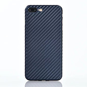 Para Ultrafina Funda Cubierta Trasera Funda Un Color Suave TPU para Apple iPhone 7 Plus iPhone 7 iPhone 6s Plus/6 Plus iPhone 6s/6