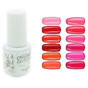 Gel UV para esmalte de uñas 0.005 1 Gel de color UV Clásico Empapa de Larga Duración Diario Gel de color UV Clásico Alta calidad