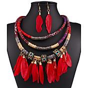 Mujer Borla Conjunto de joyas - Borla Incluir Negro / Rojo / Azul Para Boda / Fiesta / Ocasión especial
