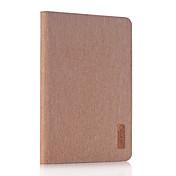 Funda Para Apple iPad Mini 4 Mini iPad 3/2/1 con Soporte Funda de Cuerpo Entero Color sólido Dura Cuero de PU para iPad Mini 4 iPad Mini