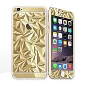 para Apple iPhone 6s / 6 4.7 pantalla protector de pantalla frontal protector y protector de espalda galvanoplastia patrón geométrico