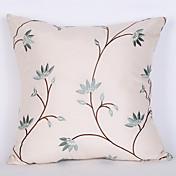 1 unid 45 * 45 cm pálido verde leafpattern funda de almohada decoración del hogar