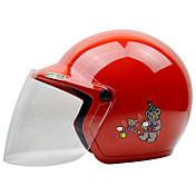 Zevs som-201 motorsykkel barn hjelm halvhjelm abs for 3-12 år