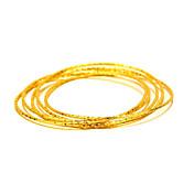 Brazaletes Naturaleza Moda Cosecha Cobre Chapado en Oro 24K Plated Gold Forma de Círculo Forma Redonda Joyas Para Boda Fiesta Ocasión