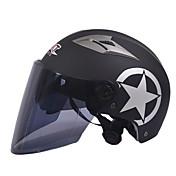 GXT m11 motorsykkel halv hjelm dual-linse harley solkrem hjelm sommer unisex egnet for 55-61cm med lenge te speillinse