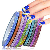 # stickers & tapes etiqueta engomada de la hoja etiqueta engomada del clavo glamour glitter nail art diy herramienta accesorio nail art design