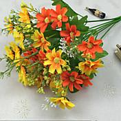 1 Rama Poliéster Margaritas Flor de Mesa Flores Artificiales