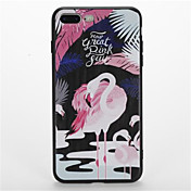 Para Diseños Funda Cubierta Trasera Funda Flamenco Suave TPU para AppleiPhone 7 Plus iPhone 7 iPhone 6s Plus iPhone 6 Plus iPhone 6s