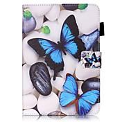 Para Carcasa Funda Cartera Soporte de Coche con Soporte Flip Diseños Cuerpo Entero Funda Mariposa Dura Cuero Sintético para AppleiPad
