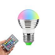 3W 270lm E26 / E27 Bombillas LED de Globo Rotatoria 1 Cuentas LED LED de Alta Potencia Regulable Control Remoto RGB 85-265V