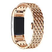 para la carga de Fitbit 2 regalos reemplazo reloj inteligente genuina brazalete de acero inoxidable banda reloj inteligente