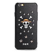 Para Diseños Manualidades Funda Cubierta Trasera Funda Calavera Dura Policarbonato para AppleiPhone 7 Plus iPhone 7 iPhone 6s Plus iPhone