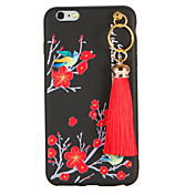 Para Diseños Manualidades Funda Cubierta Trasera Funda Flor Suave TPU para AppleiPhone 7 Plus iPhone 7 iPhone 6s Plus iPhone 6 Plus