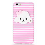 Funda Para Apple iPhone 7 Plus iPhone 7 IMD Espejo Manualidades Funda Trasera Perro Suave TPU para iPhone 7 Plus iPhone 7 iPhone 6s Plus
