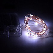 5 m Lysslynger 50 SMD LED Varm hvit / RGB / Hvit Batteri / IP65