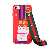 Para Diseños Manualidades Funda Cubierta Trasera Funda Gato Suave TPU para AppleiPhone 7 Plus iPhone 7 iPhone 6s Plus iPhone 6 Plus