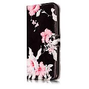 Etui Til Apple iPhone X iPhone 8 Kortholder Lommebok med stativ Flipp Mønster Heldekkende etui Blomsternål i krystall Hard PU Leather til