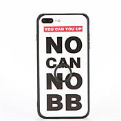 용 링 홀더 엠보싱 텍스쳐 패턴 케이스 뒷면 커버 케이스 단어 / 문구 하드 PC 용 Apple 아이폰 7 플러스 아이폰 (7) iPhone 6s Plus iPhone 6 Plus iPhone 6s 아이폰 6 iPhone SE/5s iPhone 5