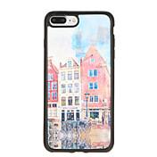 Para Carcasa Funda Diseños Cubierta Trasera Funda Torre Eiffel Suave TPU para AppleiPhone 7 Plus iPhone 7 iPhone 6s Plus iPhone 6 Plus