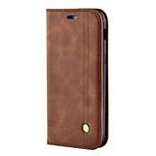 Etui Til Samsung Galaxy A5(2017) A3(2017) Kortholder Lommebok med stativ Flipp Magnetisk Heldekkende etui Helfarge Hard PU Leather til A3