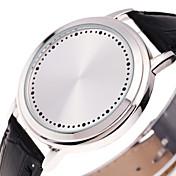 Hombre Digital Reloj digital Reloj Deportivo Chino Luminoso Piel Banda Creativo Casual Reloj creativo único Moda Cool Negro