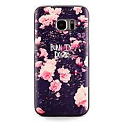 Funda Para Samsung Galaxy S7 edge S7 Diseños Cubierta Trasera Flor Suave TPU para S7 edge S7