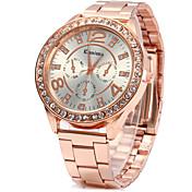 Mujer Cuarzo Simulado Diamante Reloj Reloj de Vestir Reloj de Moda Chino Diamantes Sintéticos La imitación de diamante Aleación Banda