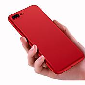 Para iPhone 8 iPhone 8 Plus Carcasa Funda Congelada Cubierta Trasera Funda Color sólido Suave Silicona para Apple iPhone 8 Plus iPhone 8