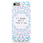 Para Carcasa Funda Diseños Cubierta Trasera Funda Palabra / Frase Suave TPU para AppleiPhone 7 Plus iPhone 7 iPhone 6s Plus iPhone 6 Plus