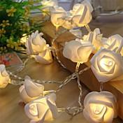 Cuerdas de Luces 10 LED Blanco Cálido Blanco Rojo <5V