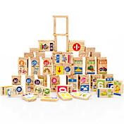 Bloques de Construcción Para regalo Bloques de Construcción Madera Natural 3-6 años de edad Juguetes