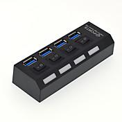 Hub USB de 4 puertos de alta velocidad con conmutador
