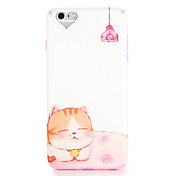 Funda Para Apple iPhone 7 Plus iPhone 7 Diseños Funda Trasera Gato Caricatura Suave TPU para iPhone 7 Plus iPhone 7 iPhone 6s Plus iPhone