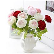 1 Rama Seda Peonías Flor de Mesa Flores Artificiales