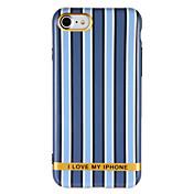 제품 케이스 커버 IMD 패턴 뒷면 커버 케이스 라인 / 웨이브 단어 / 문구 소프트 TPU 용 Apple 아이폰 7 플러스 아이폰 (7) iPhone 6s Plus iPhone 6 Plus iPhone 6s 아이폰 6