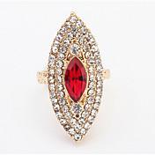 Mujer Adorable Cristal Brillante / Legierung Anillo - Forma Geométrica Personalizado / Lujo / Geométrico Rojo / Verde / Rosa claro anillo